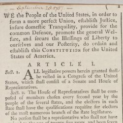 [Printed version of the United States Constitution] Resolve Book of the Office of Foreign Affairs
