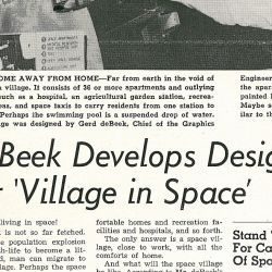 """DeBeek Develops Design for Village in Space"" Marshall Star, Volume 1"
