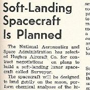 """Soft-Landing Spacecraft is Planned"" Marshall Star, Volume 1, Number 22"