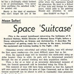 """Space Suitcase Poses Problems"" Marshall Star, Volume 2, Number 28"