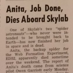 """Anita, Job Done, Dies Aboard Skylab"" Marshall Star, Volume 14, Number 2"