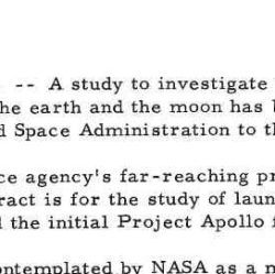 Marshall Space Flight Center Release on Project Apollo Contract