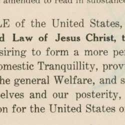 Petition from the Congregation of the United Presbyterian Church from Sebring, Ohio to Amend the Preamble of the U.S. Constitution