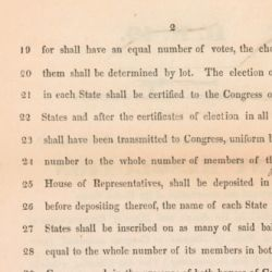 House Joint Resolution Proposing a Constitutional Amendment to Elect the President by Lot
