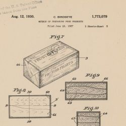 [Patent Number] 1773079 - Method of Preparing Food Product - Clarence Birdseye