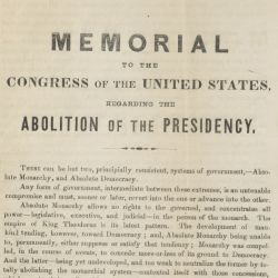 Memorial Regarding the Abolition of the Presidency