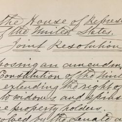 House Joint Resolution (H.J. Res.) 159, Proposing an Amendment to the Constitution to Extend the Right to Vote to Widows and Spinsters who are Property Holders