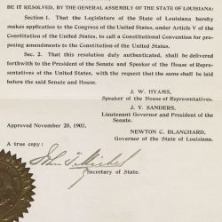 Joint Resolution of the State Legislature of Louisiana to Propose a Constitutional Amendment to Directly Elect Senators