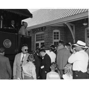 President Harry S. Truman Campaigning in Ohio