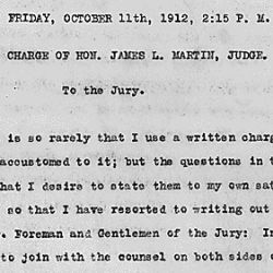 Charge of the Judge Honorable James L. Martin to the jury in the case of Loewe v. Lawlor
