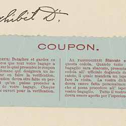 Baggage Claim Coupon from the Titanic