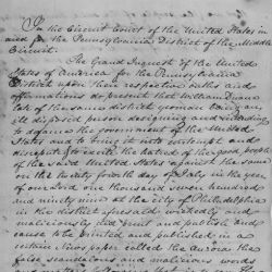 True Bill of Seditious Libel Brought Against William Duane, Case #3