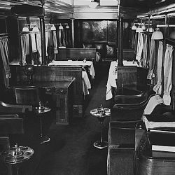 Interior of railroad cars. St. Louis