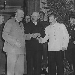 American and Allied leaders at international conferences