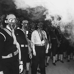 [Gas mask training, Naval Training Center, San Diego, California.]