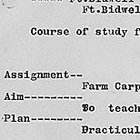 Course of study for carpentry detail and farm carpentry detail, Fort Bidwell Indian School, California