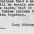 Affidavit of Lucy Mitchell Regarding the Treaty of 1865