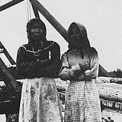 Native women near Copper Center, Alaska