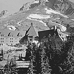 Timberline Lodge, built by WPA [Works Progress Administration], Mount Hood National Forest, Oregon