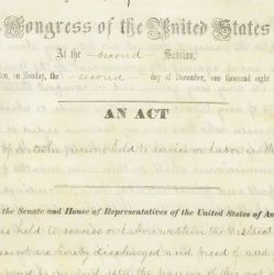 An Act of April 16, 1862 [For the Release of Certain Persons Held to Service or Labor in the District of Columbia],