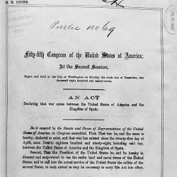 Act of April 25, 1898, Public Law 55-69, 30 STAT 364, which declared war between the United States and Spain