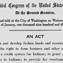 "Act of June 18, 1934, Public Law 73-383, 48 STAT 984, ""to conserve and develop Indian lands and resources; to extend to Indians the right to form business and other organizations; to establish a credi"
