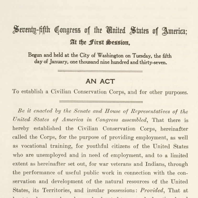 Civilian Conservation Corps Act