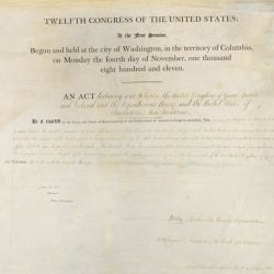 Act of June 18, 1812, 2 STAT 755, Declaration of War with Great Britain, War of 1812.