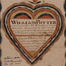 Fraktur of the Family of William Potter