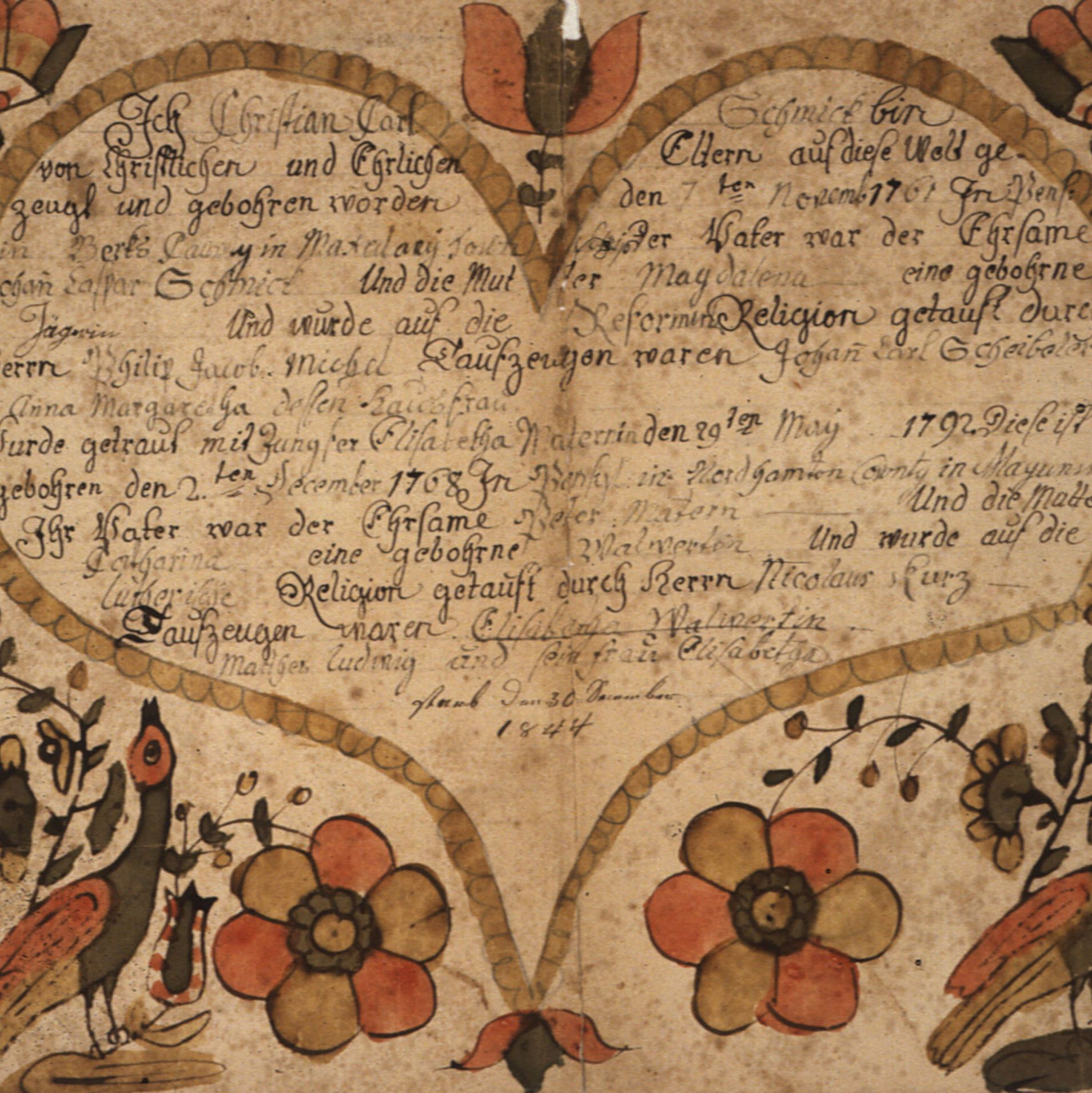 Fraktur of the Family of Ebenezer Sumner