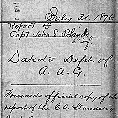 Letter from Captain John S. Poland to the Assistant Adjutant General of the Department of Dakota in Saint Paul, Minnesota