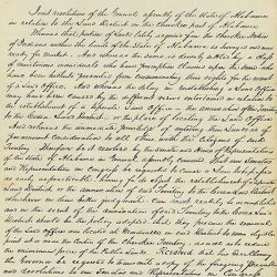 Resolution of the General Assembly of Alabama, in favor of the establishment of a land district in the Cherokee purchase in that state