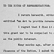 Veto message of President Franklin D. Roosevelt to the House of Representatives