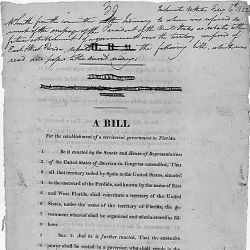 A bill for the establishment of a territorial government in Florida