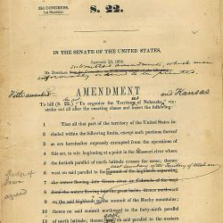 Amendment by Senator Stephen Douglas to the Kansas-Nebraska bill