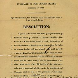 Senate Joint Resolution Declaring Admission of Missouri Into the Union