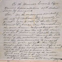 Petition of Auburn, NY, Residents Regarding Harriet Tubman