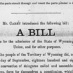 A bill to provide for the admission of the State of Wyoming into the Union