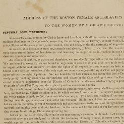 Address of the Boston Female Anti-Slavery Society