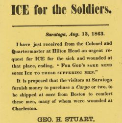 "Broadside ""Ice for the Soldiers"""