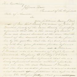 Letter from Nancy Woodward to Jefferson Davis