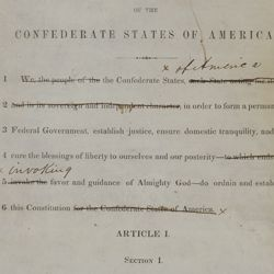 Draft of the Confederate Constitution