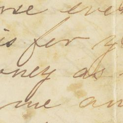 Letter from Ann, a Slave, to Soldier Her Husband