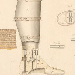Drawing of Improved Artificial Leg