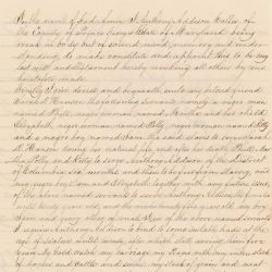 Will of Anthony Addison Contained Within His Petition to the Board