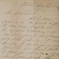 Letter from Annie Davis to Abraham Lincoln