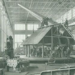 16 Inch Disappearing Carriage Model 1917 under Construction