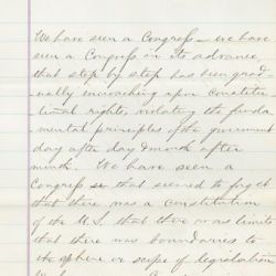 Extract of a Speech by President Andrew Johnson