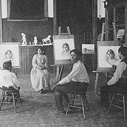 Art Class, Phoenix Indian School, Arizona