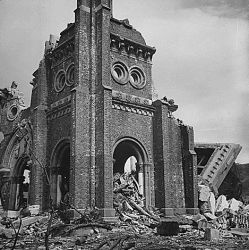 Victim of the Atom Bomb Explosion over Nagasaki